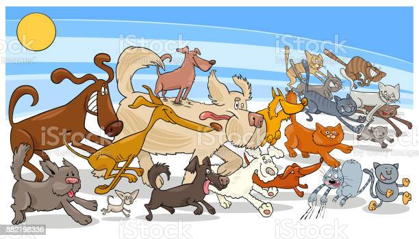 Cartoon running dog and cats group vector id882198336?b=1&k=6&m=882198336&s=612x612&h=jotiplvuksxsuw 8qiotrohtcmzqtvdnoazot8tnjzi=