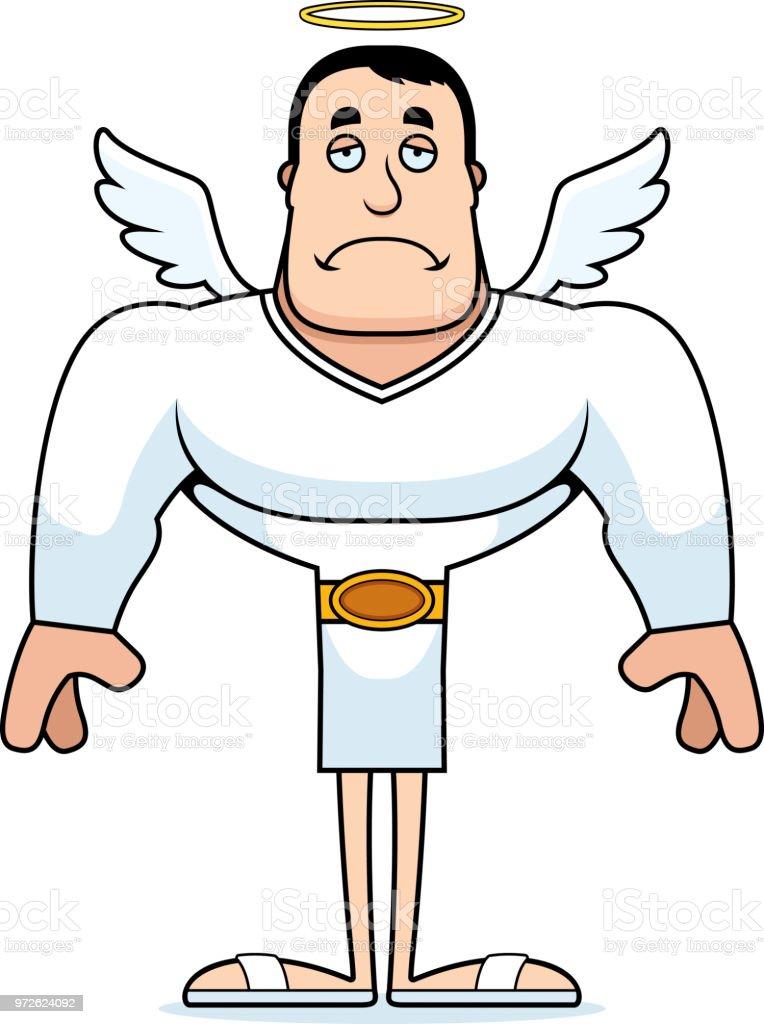 Dessin Ange Triste dessin animé ange triste – cliparts vectoriels et plus d'images de