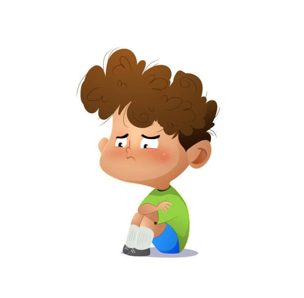 ilustrações de stock, clip art, desenhos animados e ícones de cartoon sad boy. - unfortunate