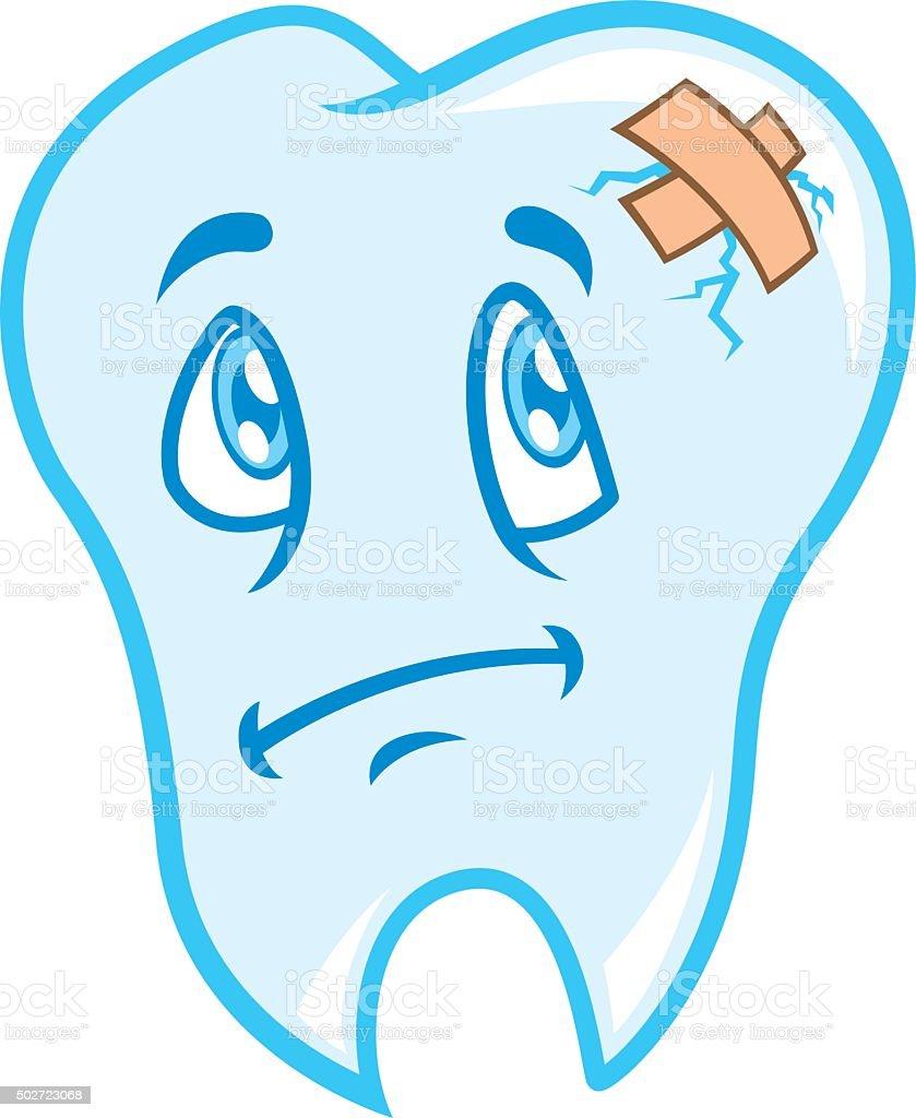 Vetores De Desenho De Dente Triste Com Faixa E Mais Imagens De