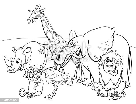 497632294istock Animales De Safari Libro Para Colorear
