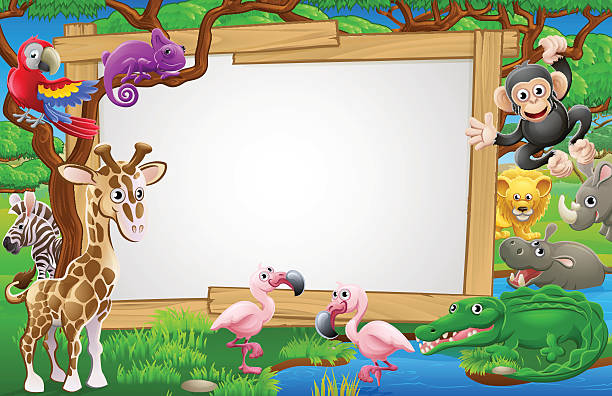 Clip Art Of Zoo Illustrations Royalty Free Vector