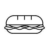 istock Cartoon Sandwich Icon Isolated On White Background 1142833934