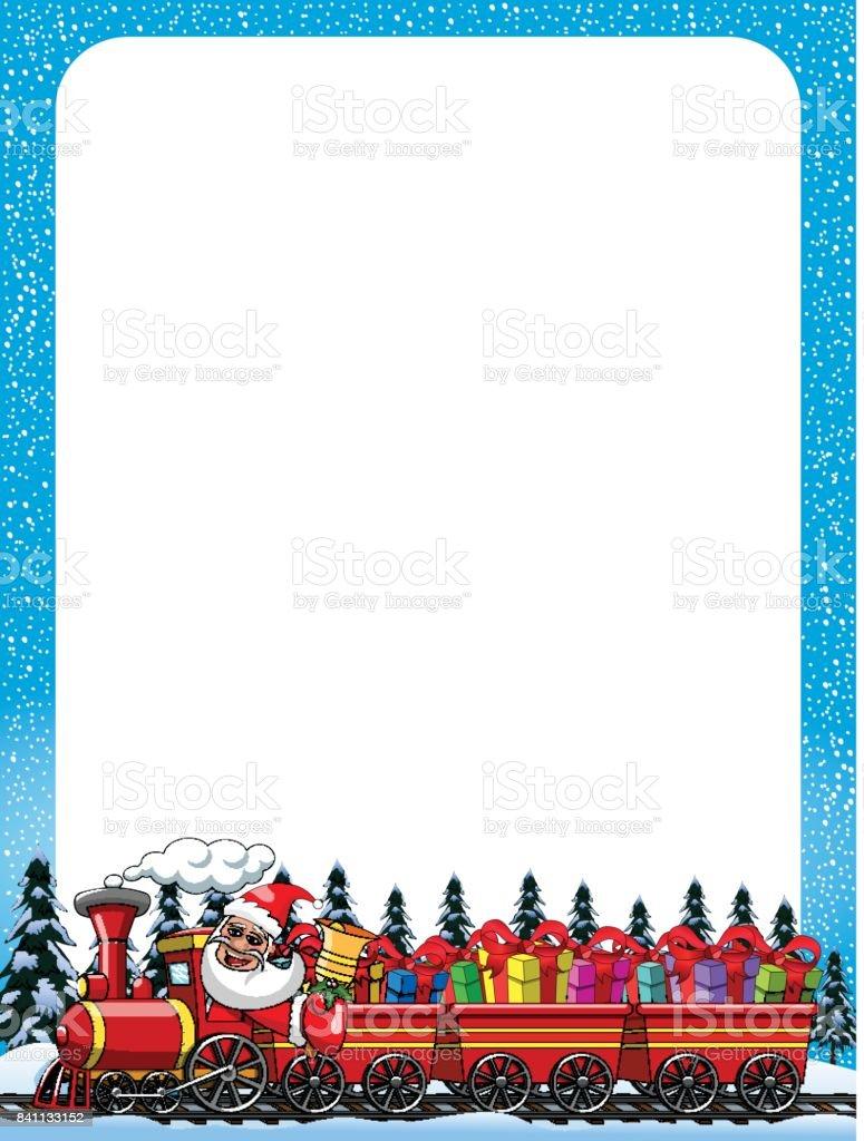 Ilustración de Dibujos Animados De Santa Claus Entregando Regalos ...