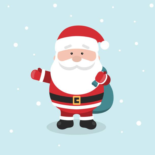 あなたのクリスマスと新年のご挨拶デザインやアニメーション漫画サンタ クロース。 - サンタクロース点のイラスト素材/クリップアート素材/マンガ素材/アイコン素材