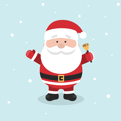 Cartoon Santa Claus for Your Christmas and New Year greeting Design or Animation.