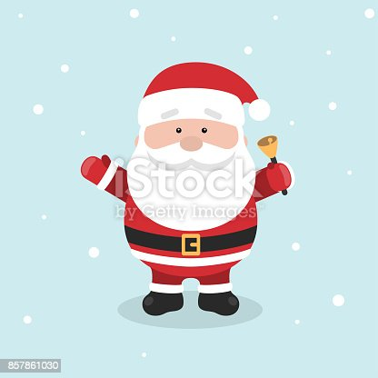 istock Cartoon Santa Claus for Your Christmas and New Year greeting Design or Animation. 857861030