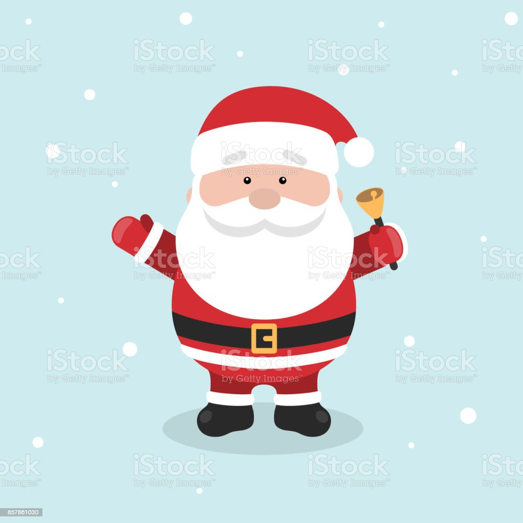 Cartoon Santa Claus for Your Christmas and New Year greeting Design or Animation. vector art illustration
