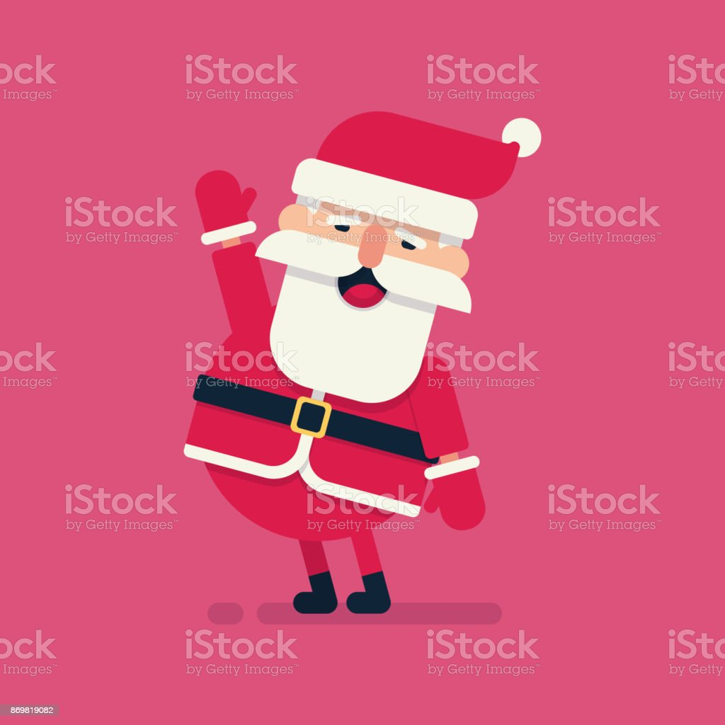 cartoon santa claus for your christmas and new year greeting design or animation vector illustration