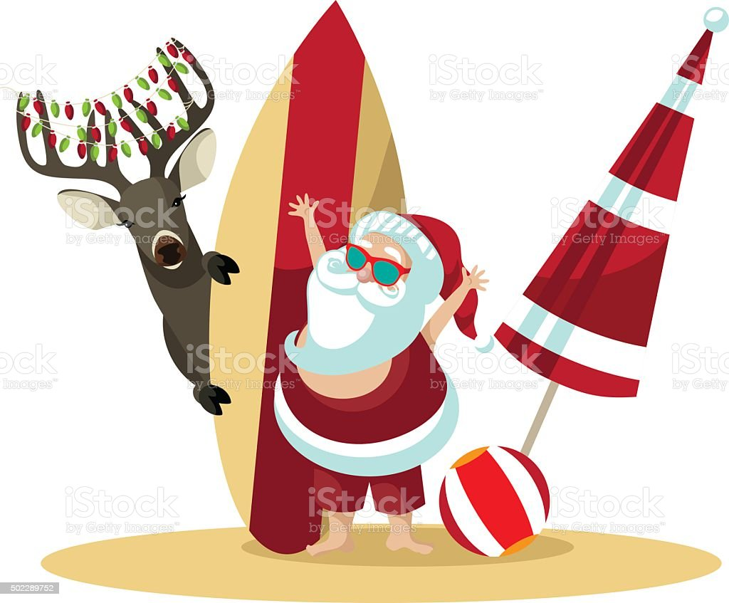 royalty free christmas beach clip art vector images