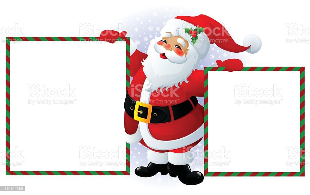 Cartoon santa clause holding two blank message boards stock vector cartoon santa clause holding two blank message boards royalty free cartoon santa clause holding two publicscrutiny Images