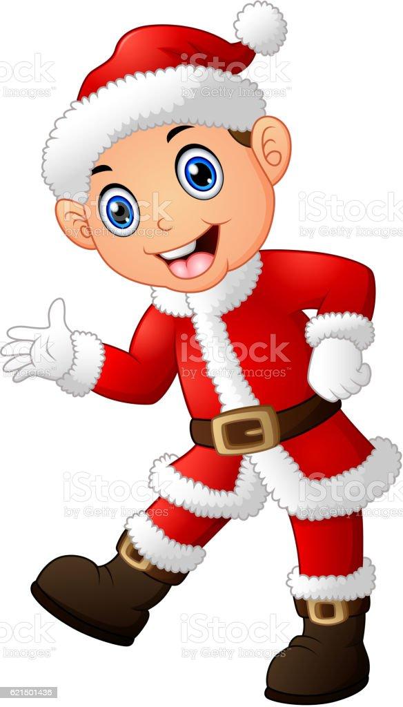 Cartoon Santa presenting cartoon santa presenting – cliparts vectoriels et plus d'images de adulte libre de droits