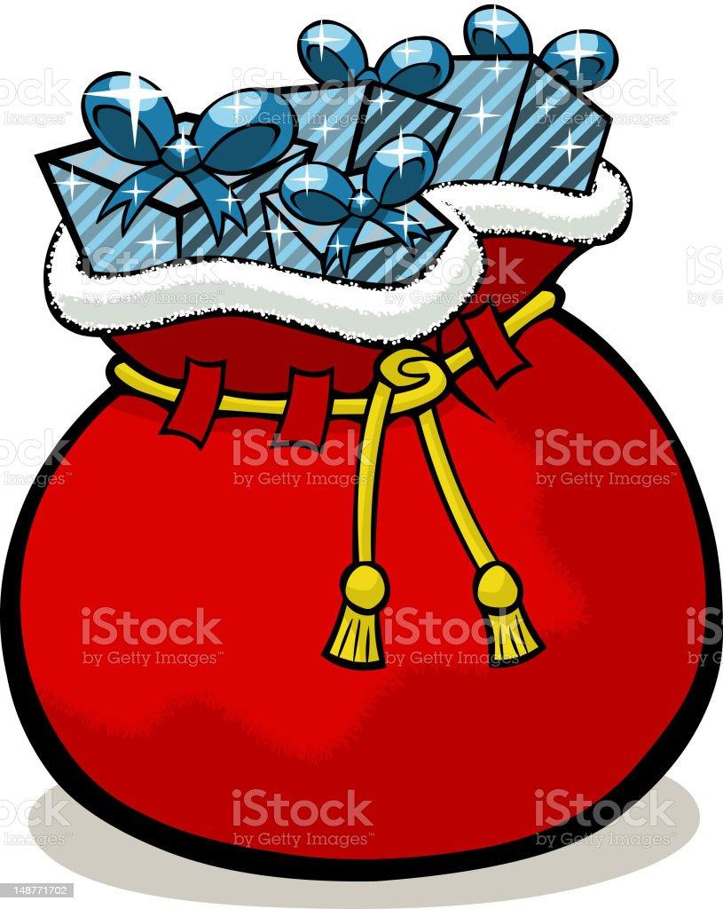 Cartoon Santa Sack royalty-free stock vector art