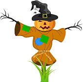istock Cartoon Scarecrow Fantasy Character 609625250
