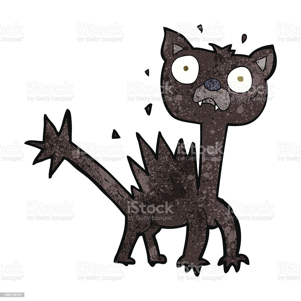 cartoon scared cat royalty-free cartoon scared cat stock vector art & more images of cheerful