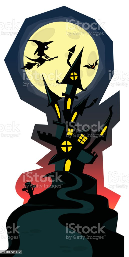 Maison Hantée Effrayante De Dessin Animé Illustration De