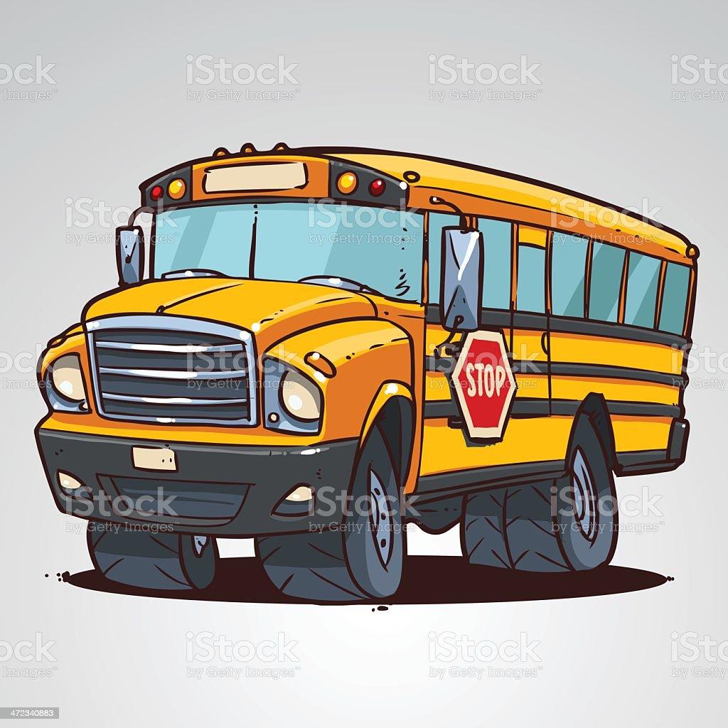 Autobus Scolaire Dessin Animé Vecteurs Libres De Droits Et