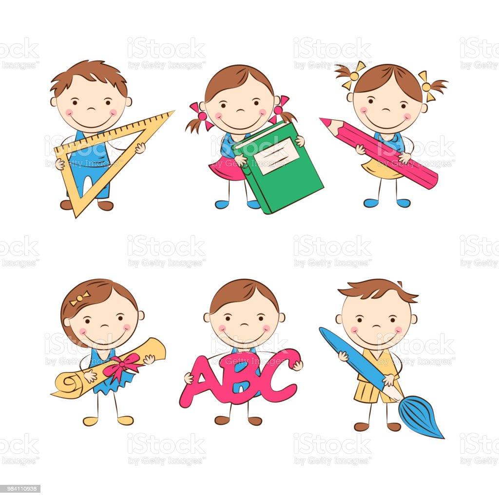 Cartoon School Kids Stock Illustration Download Image Now Istock
