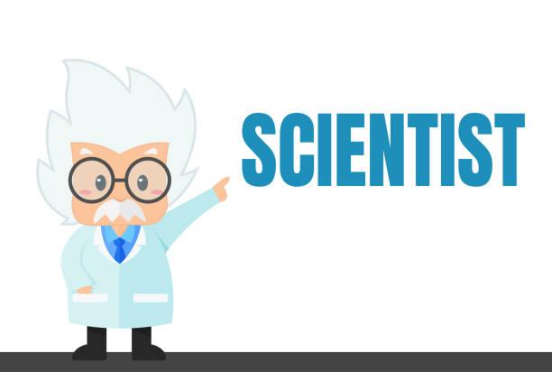 ilustrações de stock, clip art, desenhos animados e ícones de cartoon scientist in the lab and experiment that looks simple - scientist