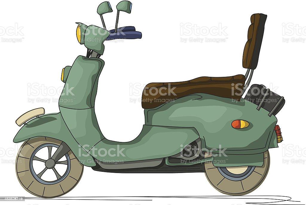Cartoon scooter vector art illustration