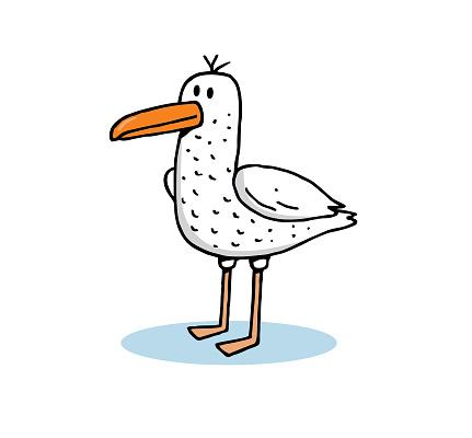 Cartoon seagull stock illustration