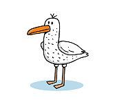 istock Cartoon seagull stock illustration 1225336910