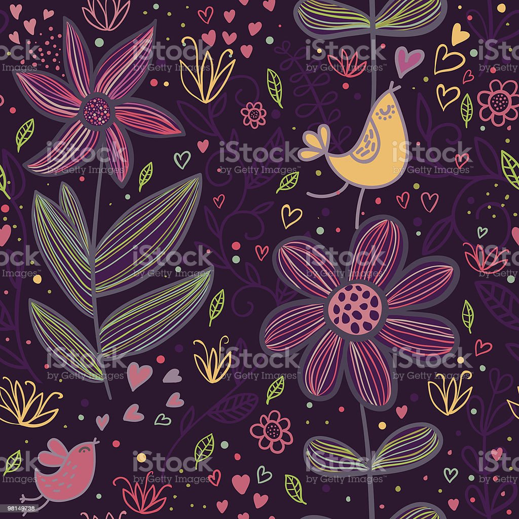Cartoon seamless pattern with birds in love royalty-free cartoon seamless pattern with birds in love stock vector art & more images of backgrounds