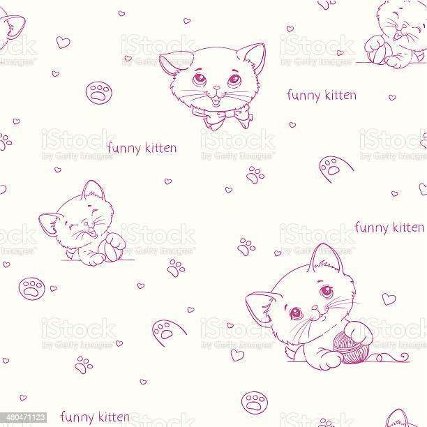 Cartoon seamless pattern with cute catsny cats vector id480471123?b=1&k=6&m=480471123&s=612x612&h=cmuc4umrf2 8rjpwk1smjvtq3qq yzmmg0dwdjacfx4=