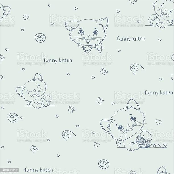 Cartoon seamless pattern with cute catsny cats vector id480471239?b=1&k=6&m=480471239&s=612x612&h=cwuanwsrs 3mdgmrcmaasctt46j78rdlvqukf83fh3m=