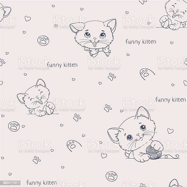 Cartoon seamless pattern with cute catsny cats vector id480471311?b=1&k=6&m=480471311&s=612x612&h=ykfhwqq1boib5vc jru ehqbhvs7ooxdv  lwlpyejg=