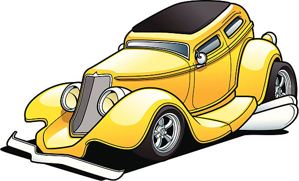 Cartoon Sedan vector art illustration