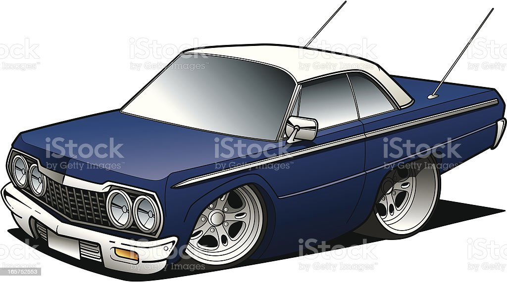 Cartoon sedan - Royalty-free Car stock vector