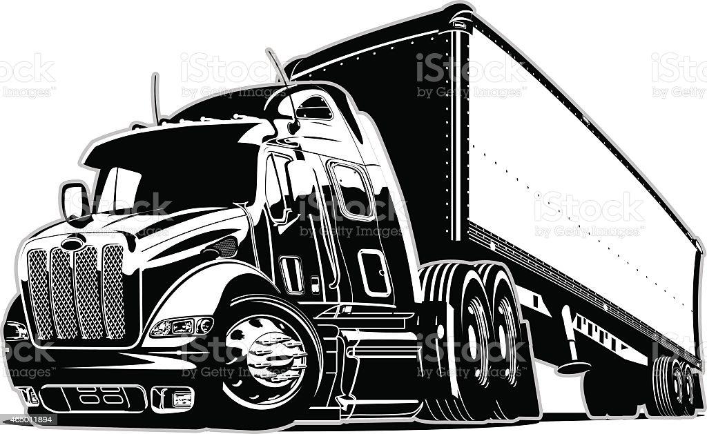 Cartoon Semi Truck Stock Illustration - Download Image Now ...