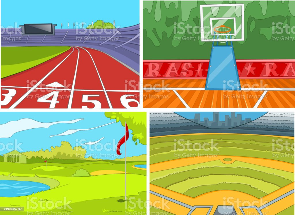 cartoon set of sport infrastructure backgrounds stock illustration download image now istock cartoon set of sport infrastructure backgrounds stock illustration download image now istock