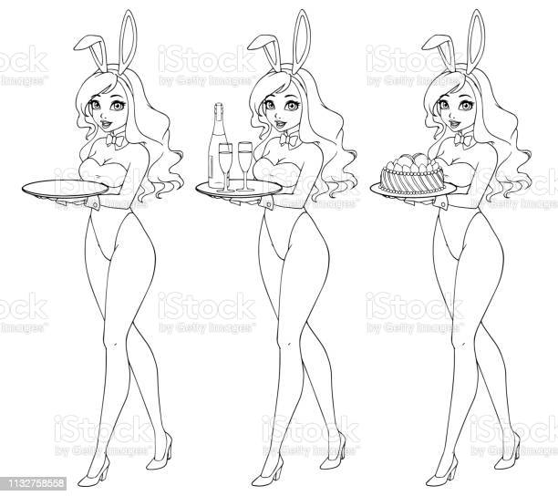 Cartoon sexy pin up bunny girl with champagne and cake vector id1132758558?b=1&k=6&m=1132758558&s=612x612&h=lt gcwsv55w76g344jyj0wrgb1 tv7xj1zimpkn0lbm=