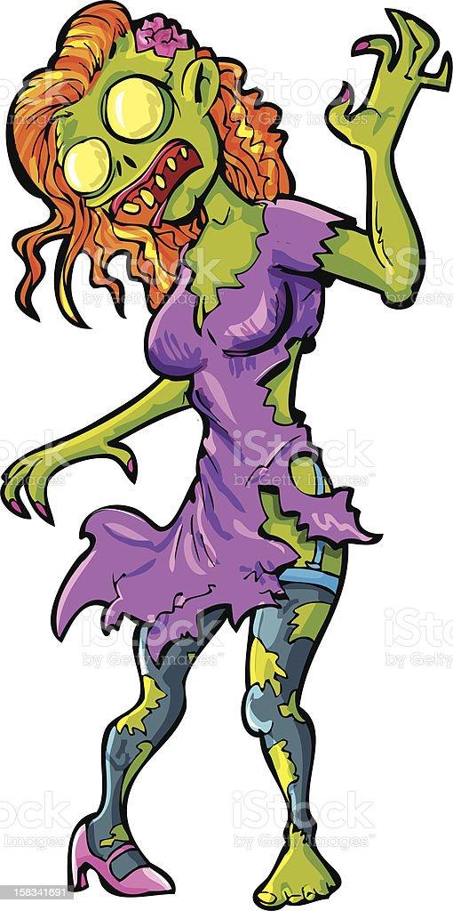 Dessin Animé Femme Sexy Zombie Vecteurs Libres De Droits Et