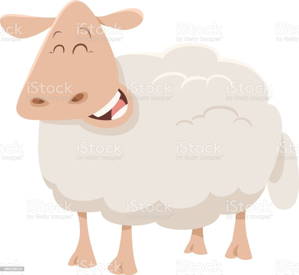 cartoon sheep animal character royalty-free cartoon sheep animal character stock vector art & more images of agriculture