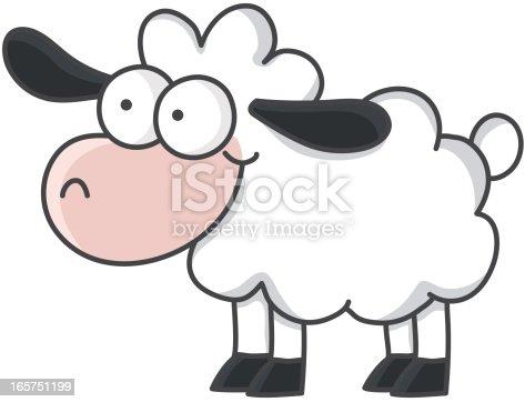 istock Cartoon Sheep 165751199