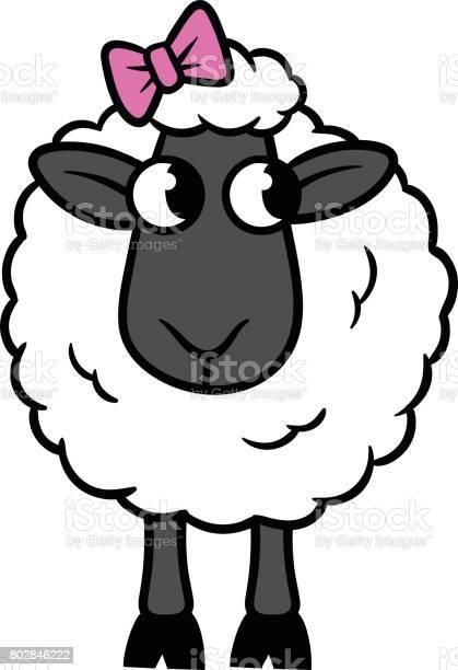Cartoon sheep with bow vector illustration vector id802846222?b=1&k=6&m=802846222&s=612x612&h=oq0teq8izshp fkfoqzqilocat qeihnolm9nqdazby=