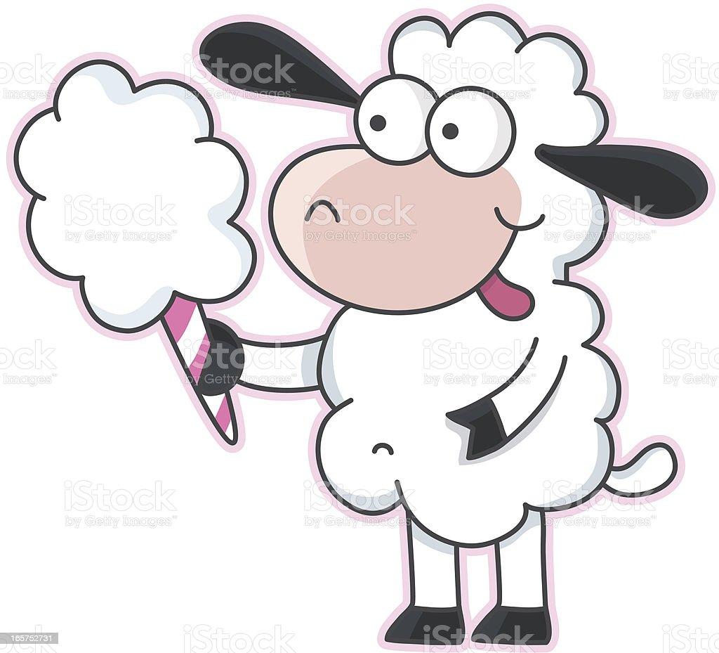 Dessin Animé De Moutons Avec Barbe à Papa Cliparts Vectoriels Et