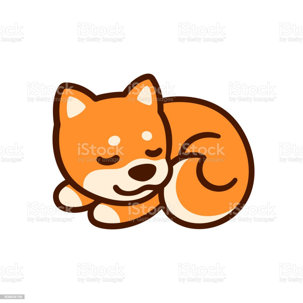 Cartoon Shiba Inu Puppy Stock Illustration Download Image Now