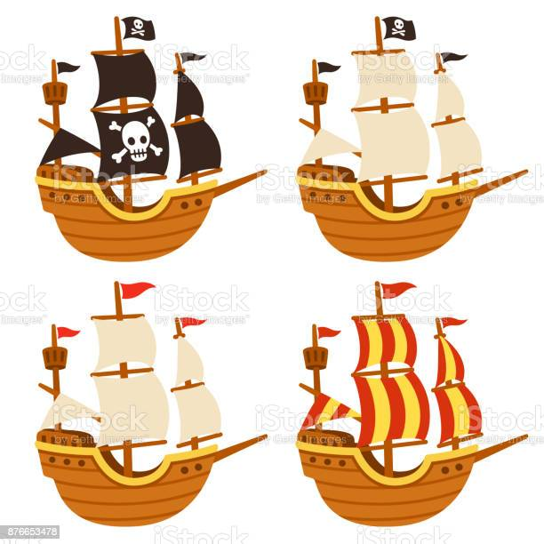 Cartoon Ships Set Stock Illustration Download Image Now Istock