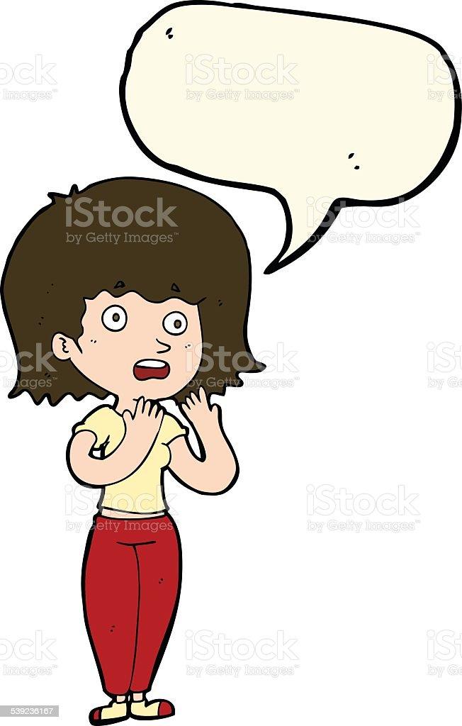 Mujer de historieta conmocionada con burbuja de discurso ilustración de mujer de historieta conmocionada con burbuja de discurso y más banco de imágenes de adulto libre de derechos
