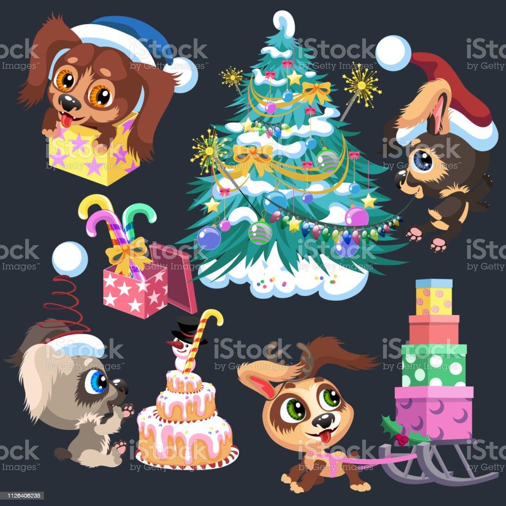 Animation Frohe Weihnachten.Cartoonzeichen Wir Wünschen Ihnen Frohe Weihnachten Und Glückliches