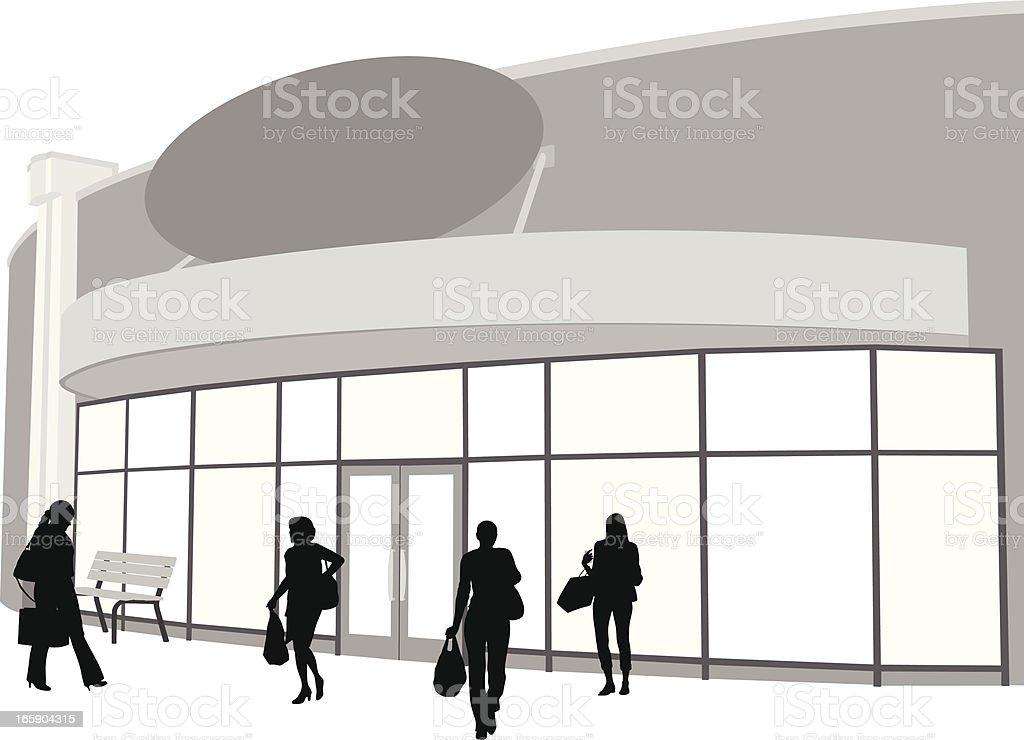 des silhouettes de dessin anim de l chevitrines en entrant dans le magasin cliparts. Black Bedroom Furniture Sets. Home Design Ideas