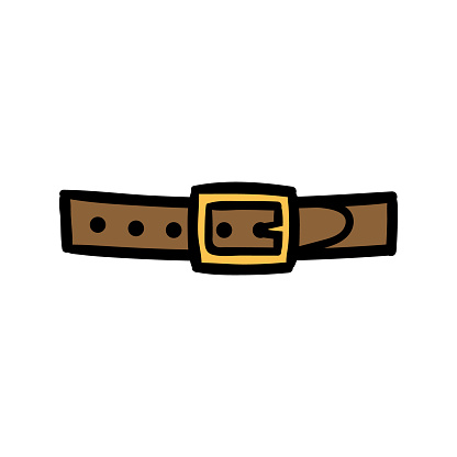 Cartoon Simple Belt Buckle Illustration Stock Illustration Download Image Now Istock