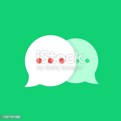 istock cartoon simple online chat bubbles 1257757492