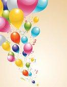 Balloons Flying Illustration