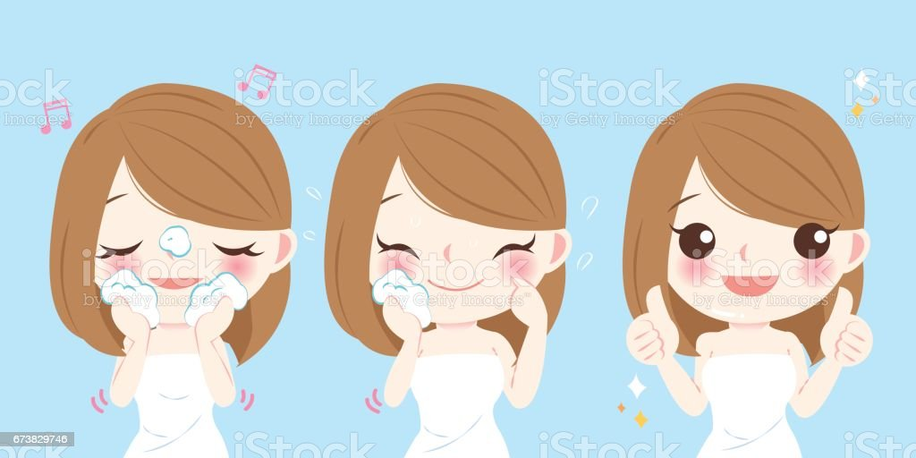 cartoon skin care woman cartoon skin care woman – cliparts vectoriels et plus d'images de adulte libre de droits