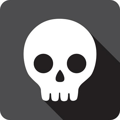 Cartoon Skull Icon Silhouette